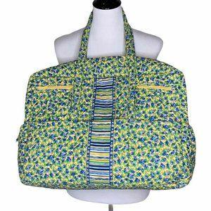 Elizabeth Austen Quilted Tote Bag Green Blue Tote